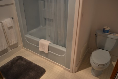 Full bathroom with jetted tub